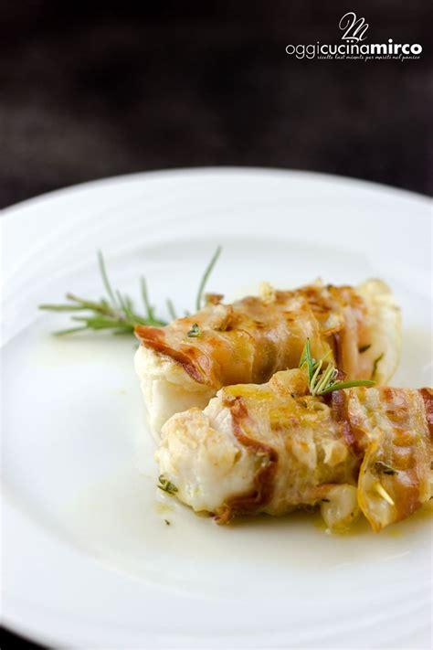 cucinare il merluzzo in padella involtini di merluzzo e pancetta in padella o al forno