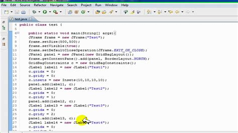swing exle in java javax swing exle 26 images jpanel java api doc jtable