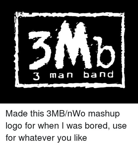 Like A Rock Band Mashup by 3 Band 3 Made This 3mbnwo Mashup Logo For When I Was