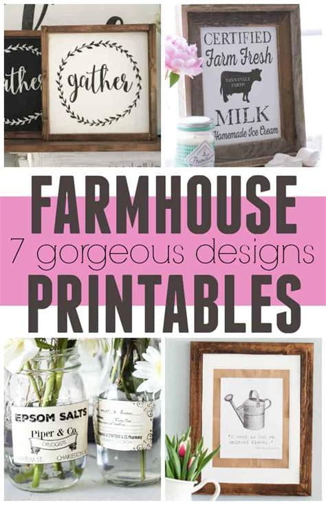 farmhouse decor printables farmhouse printables 7 gorgeous designs