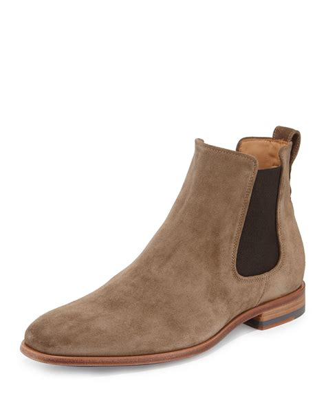 chelsea boots mens vince arthur suede chelsea boot in brown for lyst