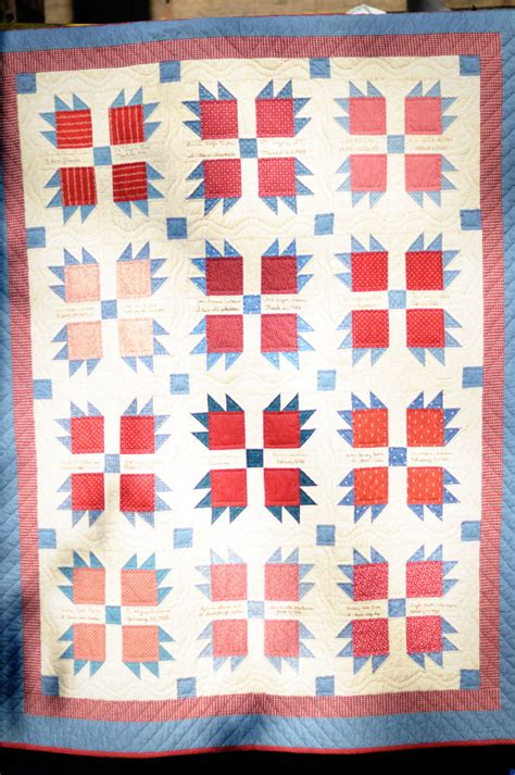 Claw Quilt Pattern by Vintage Inspired Quilt S Paw Design Each Quilter Embroidered Name On A Block