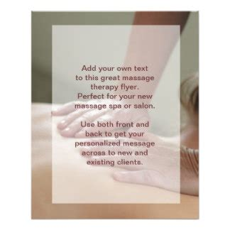 massage therapy promotional flyers massage therapy