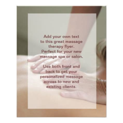 templates for massage flyers massage therapy promotional flyers massage therapy