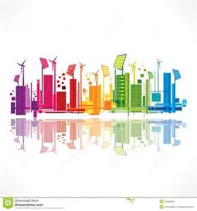 creative eco friendly city design vector stock vector