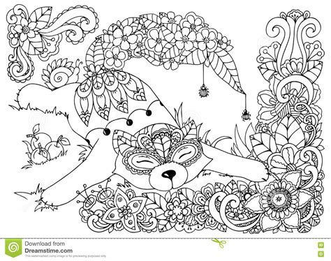 anti stress coloring book dubai grasshopper illustrations vector stock images