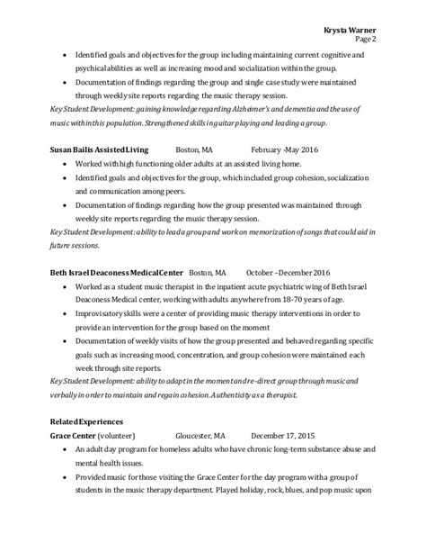 Therapy Resume by Therapy Resume