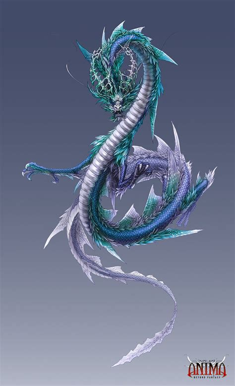 qing long azure dragon of the east on the dark heavens