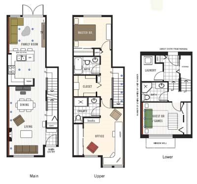 best townhome floor plans studio design gallery
