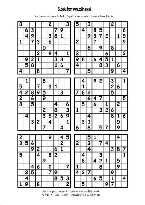 sudoku printable medium 4 per page printable sudoku puzzles 4 per page snapshot grid