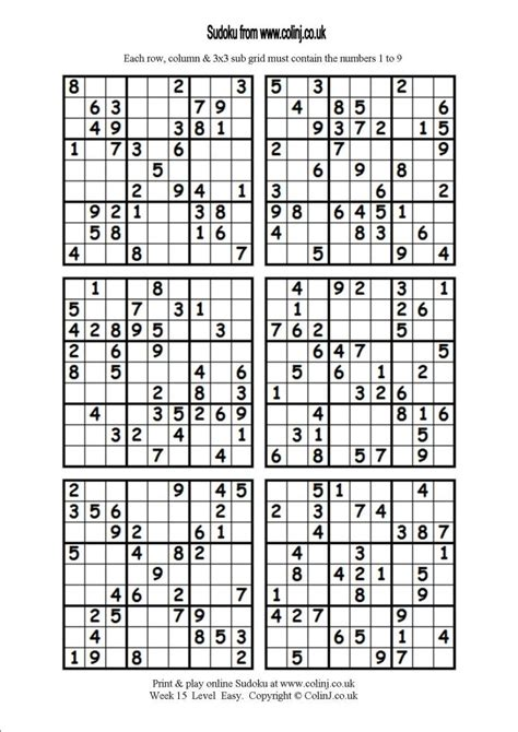 printable sudoku 4 on a page printable sudoku puzzles 4 per page snapshot grid