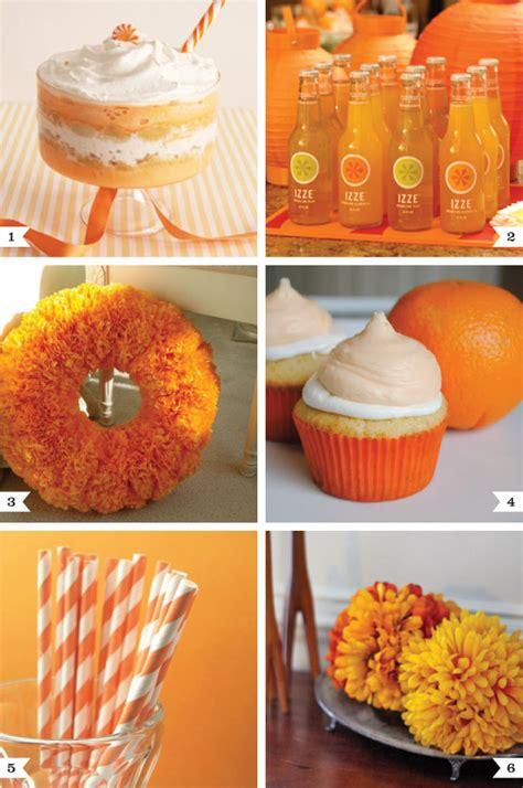 orange color theme orange party ideas chickabug