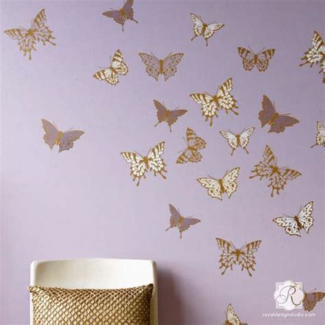 Animal Wall Stickers For Nursery wall art amp wall mural stencils for painting diy wall