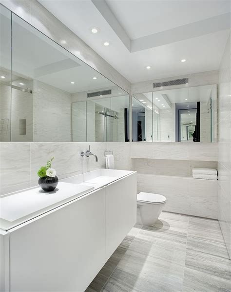 small bathroom with white suite and mirrors housetohome tiled shower niche shower shelf bathroom awesome