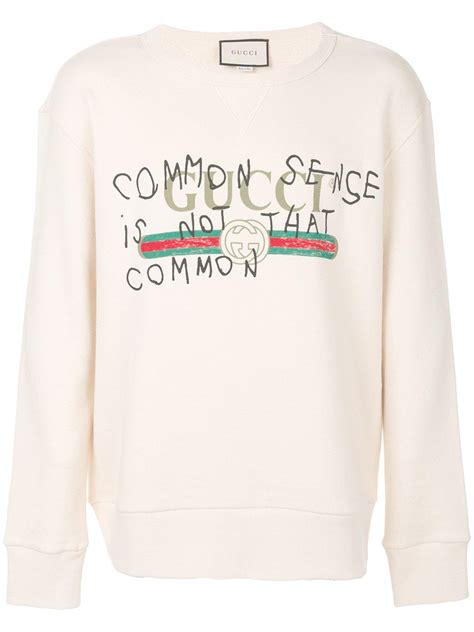 Hoodie Sweater Why Not Hitam Cloth lyst gucci common sense is not that common sweatshirt in white for