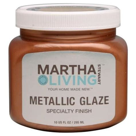 martha stewart living 10 oz metallic glaze copper leaf specialty finish 259292 the home depot