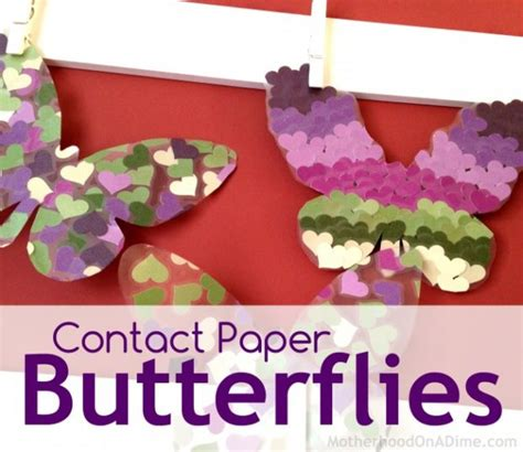 contact paper crafts butterflies archives activities saving money