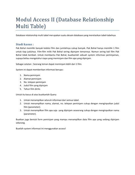 modul desain database modul tutorial ms access 2007 menengah