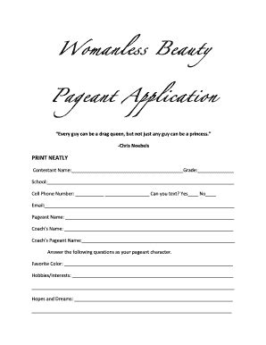 Beauty Pageant Forms Related Keywords Beauty Pageant Forms Long Tail Keywords Keywordsking Pageant Registration Form Template