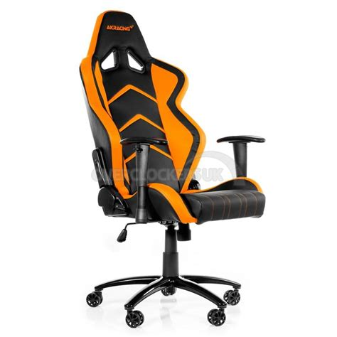 orange and black gaming chair ak racing player gaming chair black orange ocuk