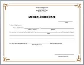 Doctor S Certificate Template Australia 8 Best Images Of Doctor Certificate Templates Medical