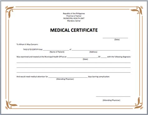 6 medical certificate samples website wordpress blog