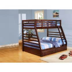 Single over double cherry bunk bed youth bedroom