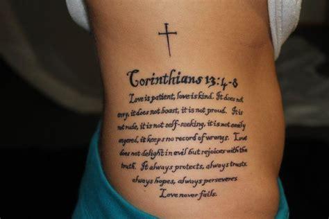 love never fails tattoo side stuff