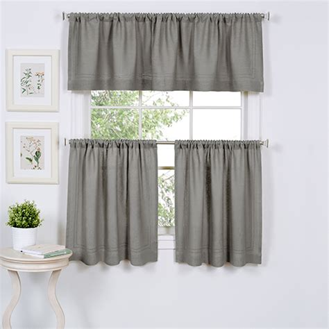 24 length curtains elrene cameron tier curtain pair 24 length grey