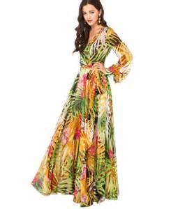 plus size floral print chiffon maxi boho beach dress