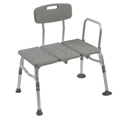 transfer benches drive medical transfer bench w adjustable backrest at medmartonline com