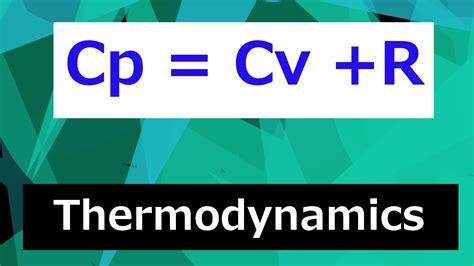 why is cp cv r thermodynamics class 100