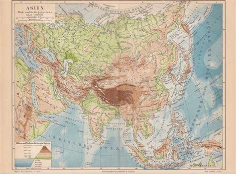 Asiat Gebirge by Die Gut Erhaltene Lithographische Karte Im Ma 223 Stab 1 50