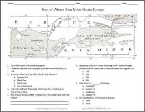 asia minor meets europe map worksheet student handouts