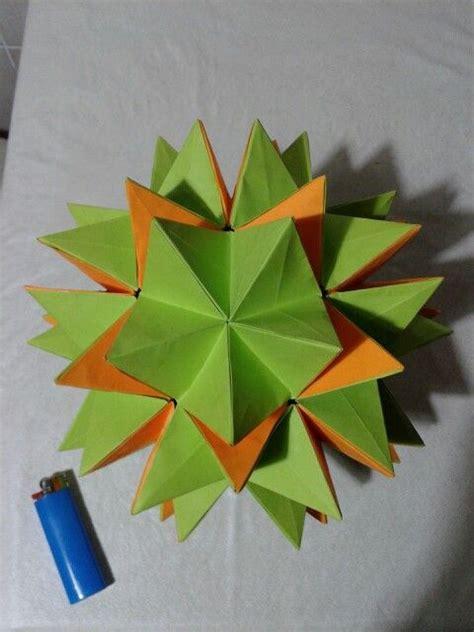 Revealed Flower Origami - revealed flower kusudama cosas lindas flower