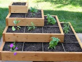 Cedar Raised Garden Beds Plans - build a beautiful tiered garden bed diy projects for everyone
