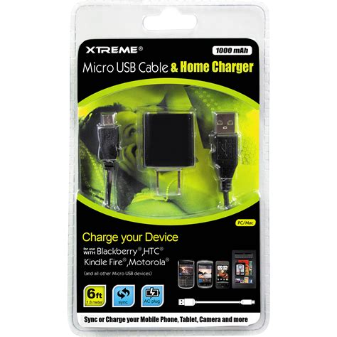 Satoo Xtreme Speed Charge Micro Usb Cable 1 2 Meter Original xtreme cables micro usb cable home charger 88922 b h photo