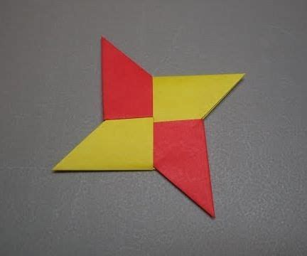 How To Fold A Paper Throwing - how to fold an origami shuriken 4