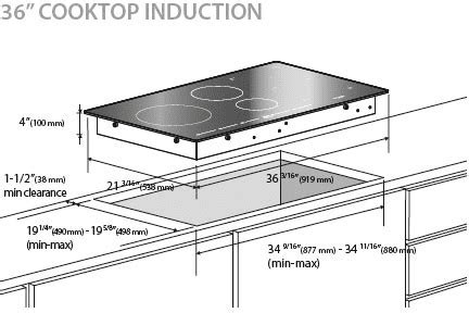 induction cooktop sizes fulgor f7it36s1 36 inch induction cooktop with 5
