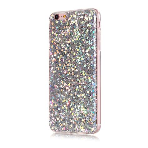 bling glitter rubber gel protective back cover for iphone 6s 7 plus 8 ebay