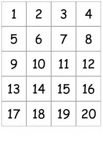 number templates 1 20 5 best images of printable number cards 1 20 number