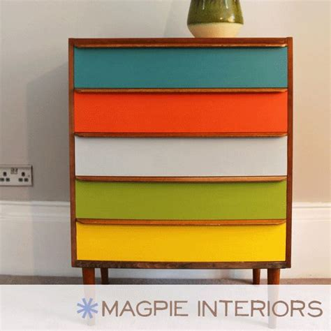 ikea multi coloured chest of drawers 1000 images about upcycled furniture on retro