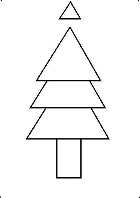 how to shape a christmas tree pictures easy shapes to draw drawings gallery