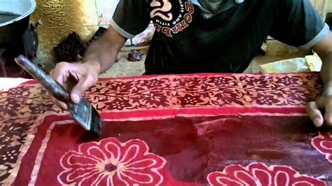 batik design of india wax batik artisan in india youtube