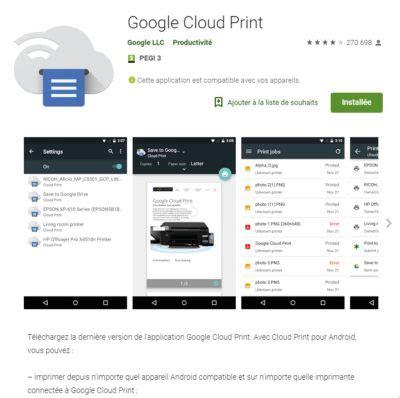 cloud print android associez votre imprimante 224 tous vos appareils pc smartphone tablette