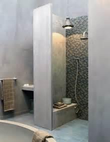 wonderful Comment Poser Une Douche A L Italienne #4: tadelakt-salle-de-bains-douche.jpg