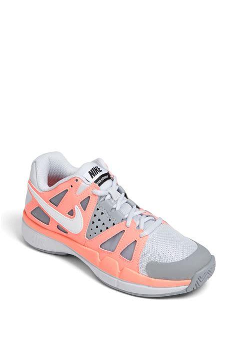 nike air vapor advantage tennis shoe in gray grey white