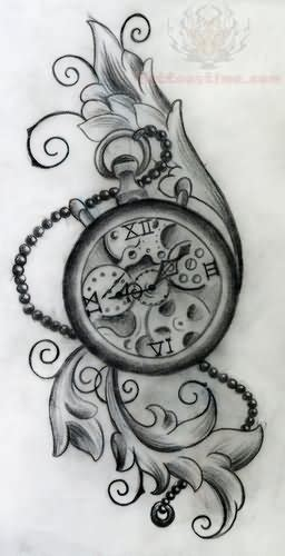 design time meaning grey ink clock tattoo design tattoo dreams