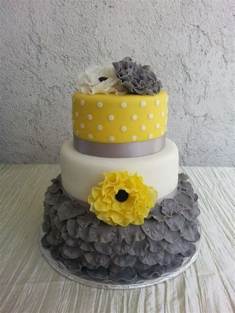 yellow and grey wedding cakes a wedding cake blog gray yellow white simple but yet elegant wedding cake