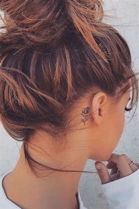 small tattoos behind ear flower ear tattoos tattoos